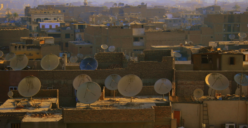 Satellite dishes in Luxor