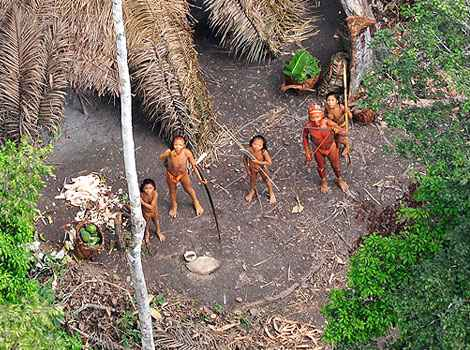 "An ""uncontacted"" tribe"
